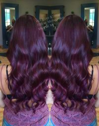 Violet red hair color with matrix color line, socolor