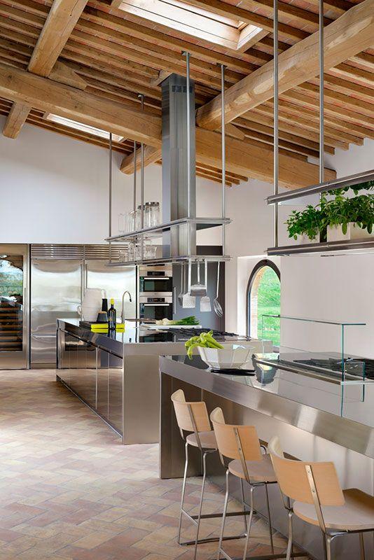 Cucina ARCLINEA modello Convivium acciaio inox La cucina professionale a casa tua  Cucine