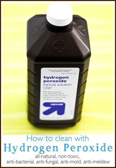 How to clean with hydrogen peroxide – Ask Anna
