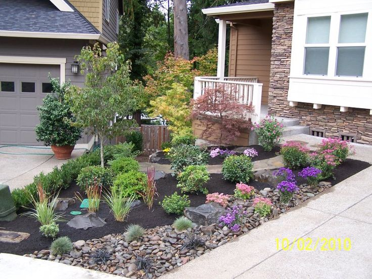 small front yard rock garden i