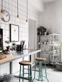 kitchen, scandinavian apartment, black and white home ...