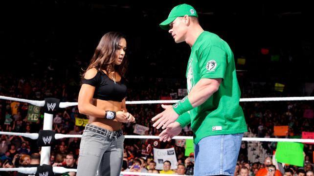 Aj Lee And John Cena AJ Lee; CM Punk Vs John Cena