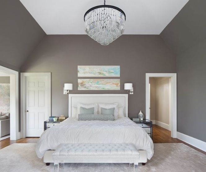 Note How The Angled Walls Are Painted Ceiling White Is Only On