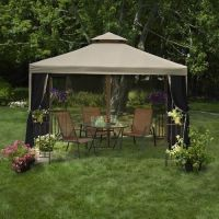 10x10 Gazebo Canopy Tent Garden Patio Umbrella Frame
