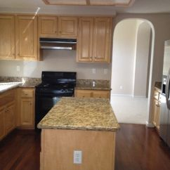 Black Kitchen Cabinets For Sale Floating Shelves With Granite Counters, Stainless Steel ...
