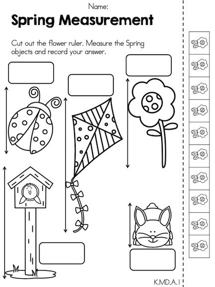 Spring Measurement >> Part of the Spring Kindergarten Math