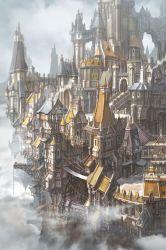 medieval artstation buildings fantasy jung environment concept min town cities seub castle artwork artist artists building isometric conceptual unique fantastique
