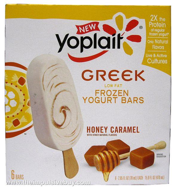 Yoplait Greek Frozen Yogurt Bars Honey Caramel I just had