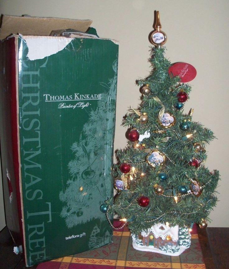 Thomas Kinkade Painter Of Light Christmas Tree Lighted