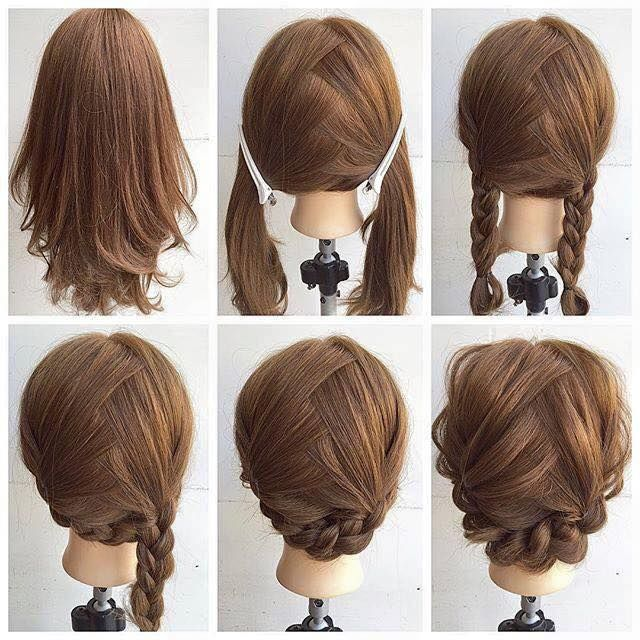 25 Best Ideas About Short Braided Hairstyles On Pinterest