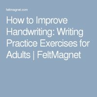 All Worksheets  How To Improve Handwriting For Adults