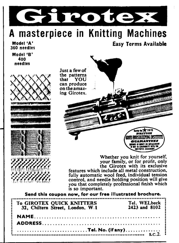 40 best images about Vintage Knitting Machine Adverts on