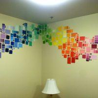 our paint chip DIY dorm wall decor!   Dorm Room ...