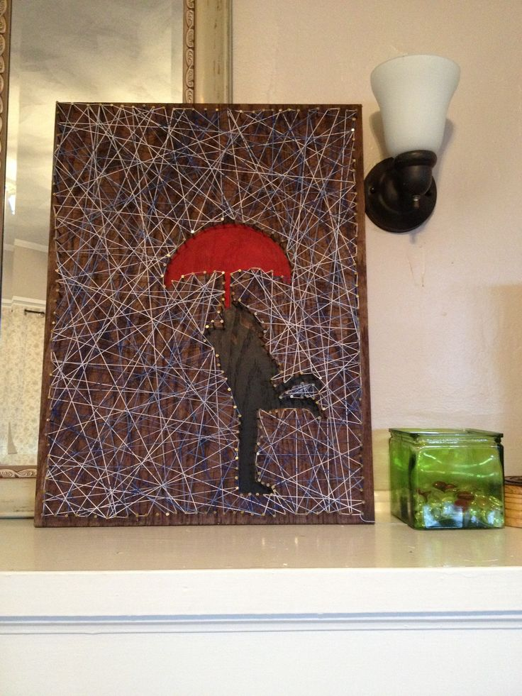Silhouette string art  crafty things  Pinterest  String art Foyers and Art