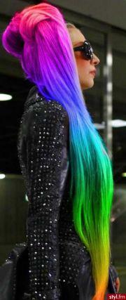 fryzury kolorowe osy