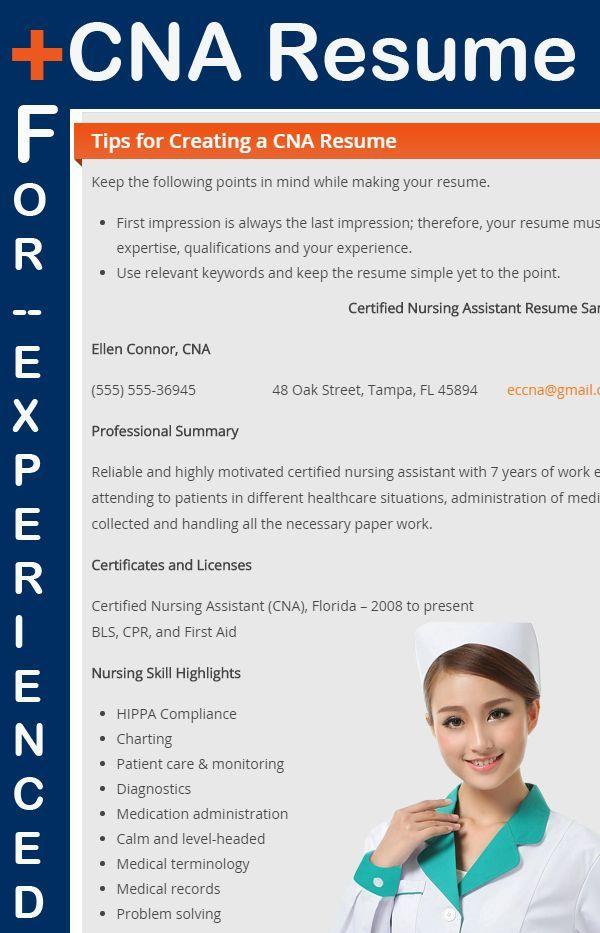 CNA Sample Resume For Experienced Sample Resume