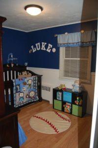 Baby boy nursery, sports, monkey, blue