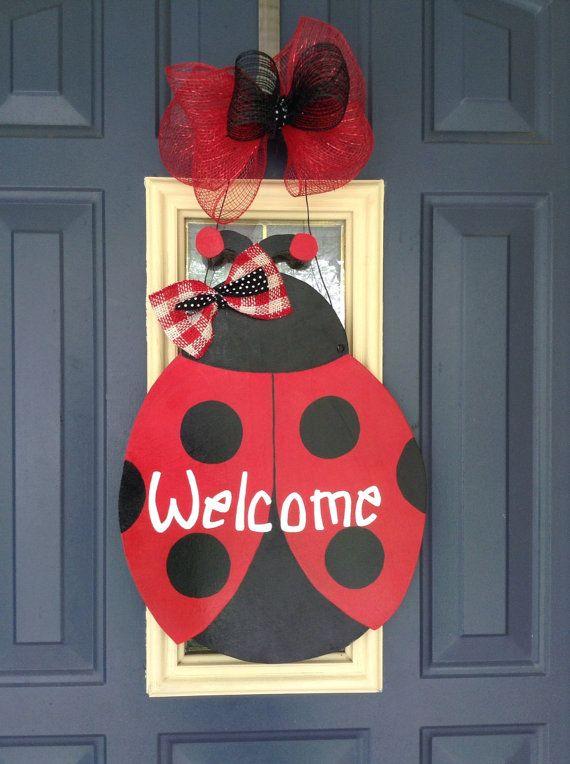 Ladybug Door Hanger Summer Door Hanger Teacher Door