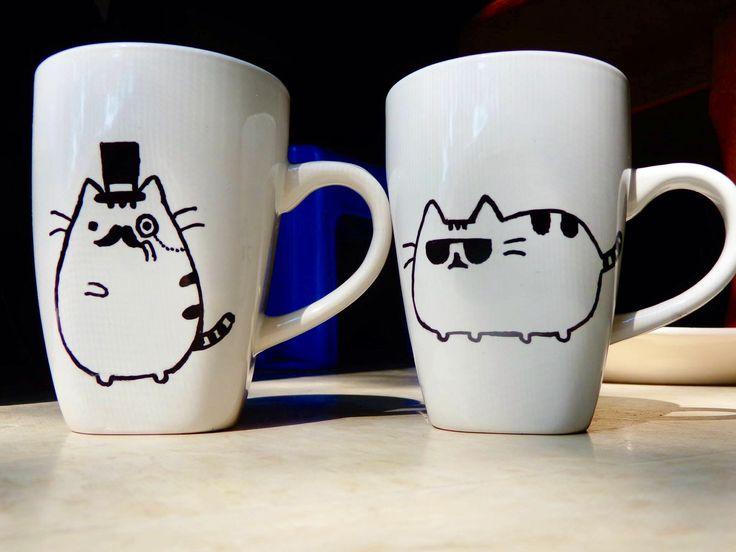 Pusheen Sharpie Mugs Cups Pinterest Pusheen