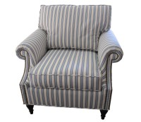 Ticking Stripe Arm Chair | Our Projects | Pinterest ...