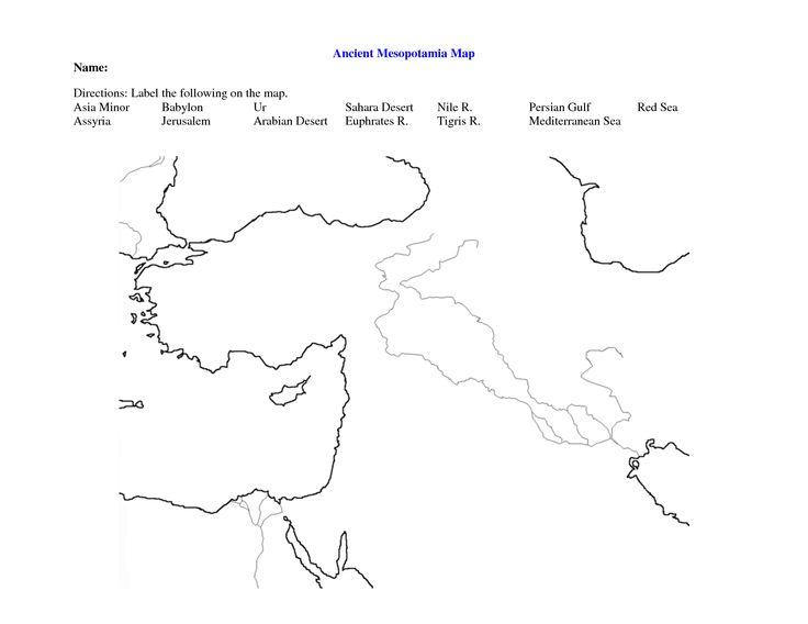 Fertile Crescent Coloring Map Coloring Pages