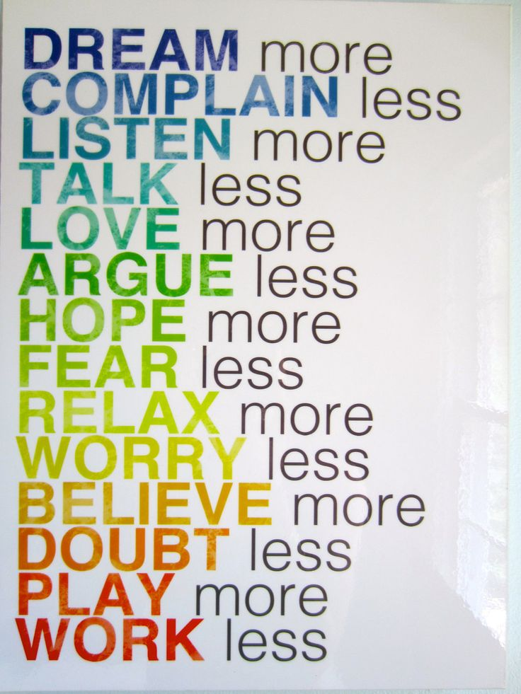 Dream More Inspiring Quote Wall Hanging Rainbow Word Art