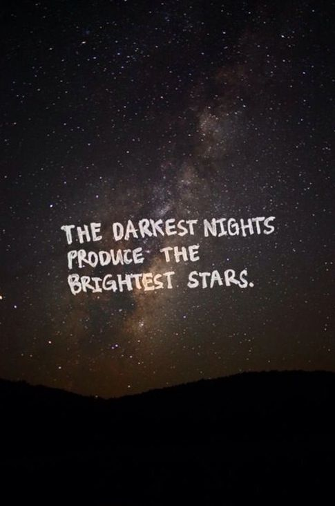 Zen Quote Wallpaper Darkest Nights Produce The Brightest Stars Quotes