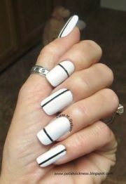ideas white nails