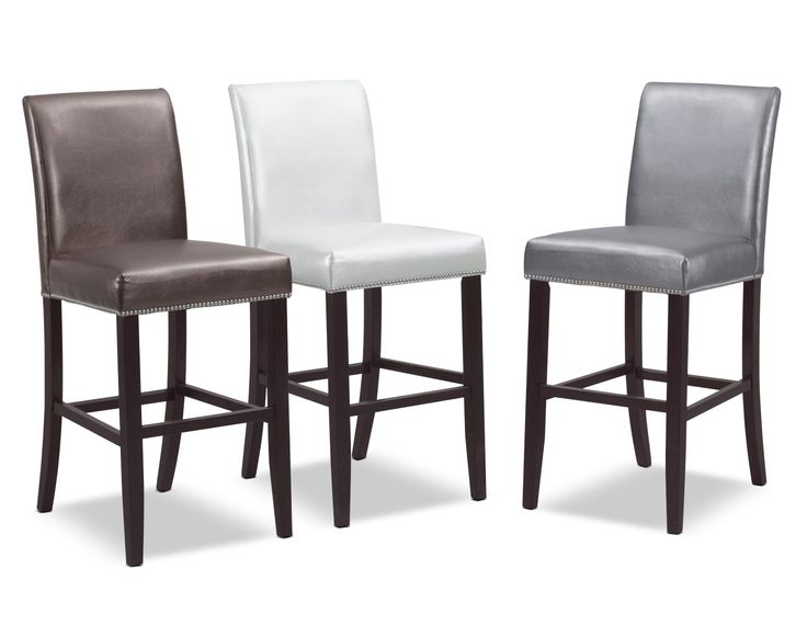 Metallic Beauty The Ross Barstool Brings A Sci Fi Look To Your Bar Or Kitchen Nailhead Trim