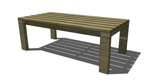 Coffee Table Plans 2x4