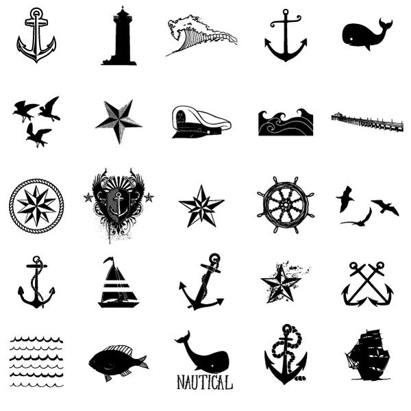 Tattoo inspiration... Nautical Vector Stock Art Set by Ray