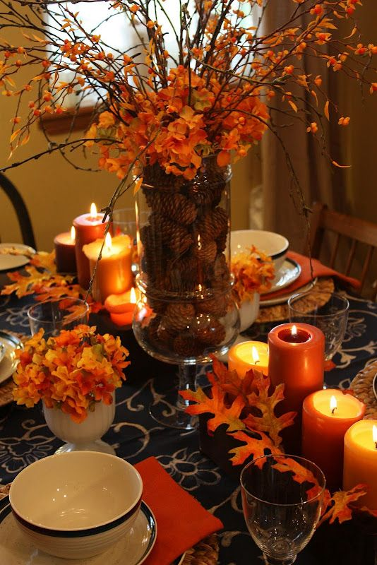 simple fall table decorations ideas | Easy Autumn Centerpiece – More With Less Today