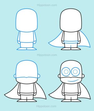 drawings superhero draw drawing simple superheroes step lesson hero easy super cartoon designs lessons heroes superheld directed projects guided animals