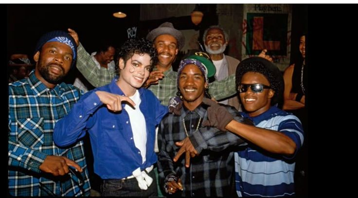 Michael Jackson With LA Crips On The Set Of The Way You