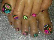 painted toe nails ideas