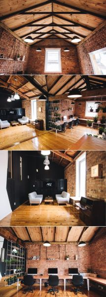 rustic modern office space 25+ best ideas about Industrial office design on Pinterest | Industrial office space, Modern
