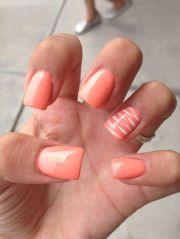 ideas orange nail