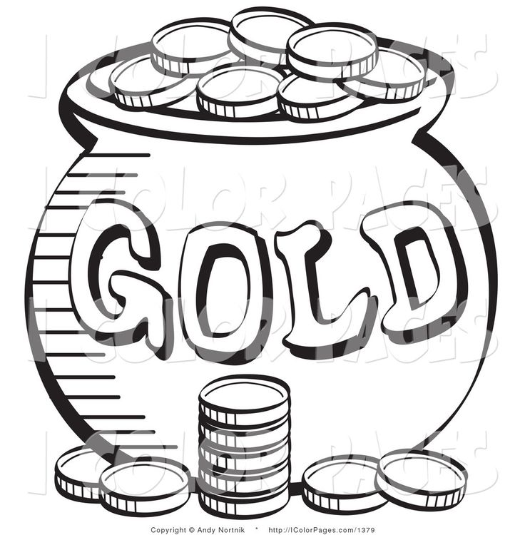 sant patricks money color sheet  royalty free vector
