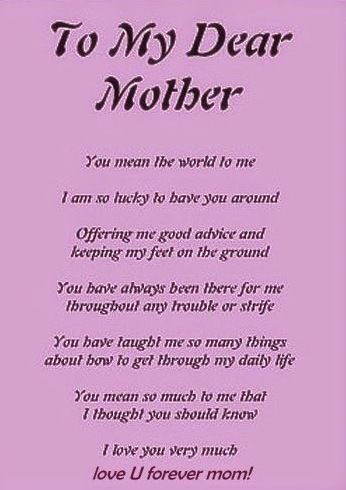 25 best ideas about Happy mothers day poems on Pinterest