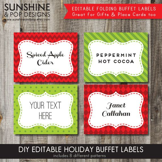 INSTANT DOWNLOAD 8 EDITABLE Christmas Holiday Folding