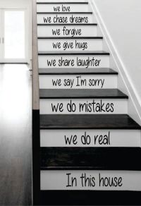 25+ best ideas about Stair Decor on Pinterest