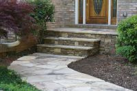 natural stone front patio ideas | Flagstone walkway ...