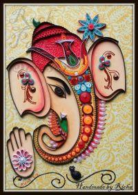 Quilled ganesha   quilling   Pinterest   Ganesha