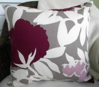 plum, grey, white throw pillow - never thought about ...