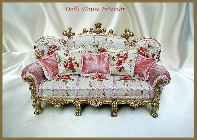 antique french sofa ebay julius 5 piece leather power motion chaise sectional 1000+ images about dollhouse victorian furniture on ...