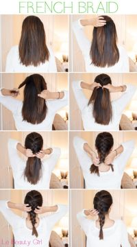 How to French Braid hair step by step  Long HairStyles ...