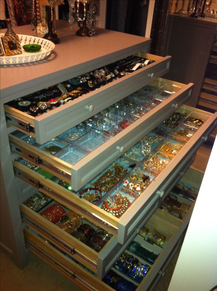 Flat file dresser for jewelry storage  My designs