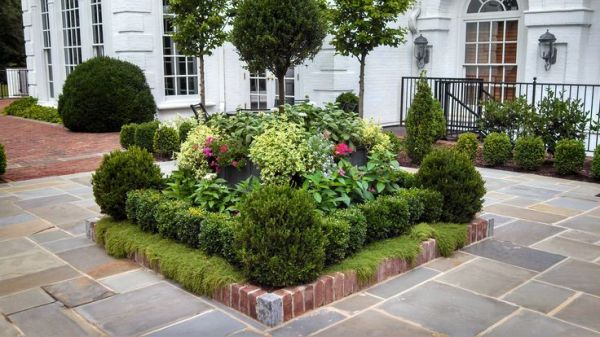 square flower bed ideas landscape