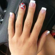 confederate flag nails nail