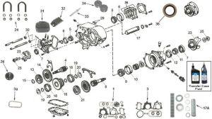 Dana Model 20 Transfer Case Parts and Diagram for CJ7